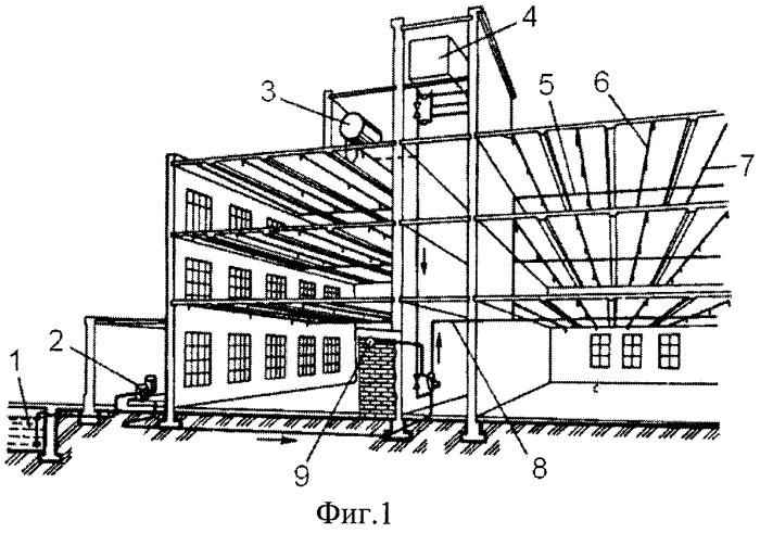 Firefighting system with drenching system
